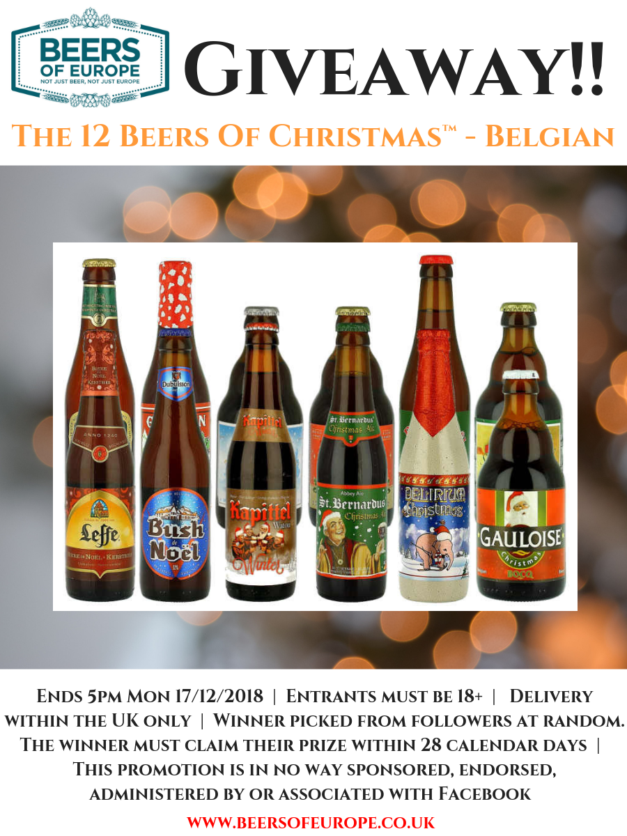 Christmas Giveaway 12 Beers of Christmas - Belgium