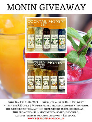 Monin Syrup Cocktail and Coffee Set Giveaway!
