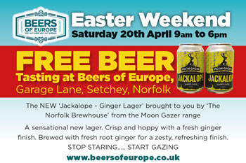 JACKALOPE Ginger Lager Free Tasting