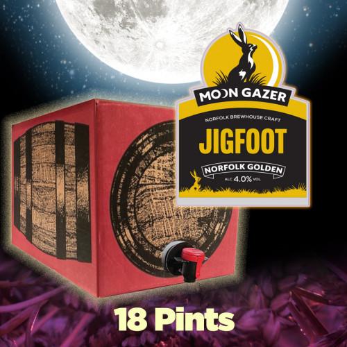 Moon Gazer Jigfoot Golden Ale 18 Pint Demipin