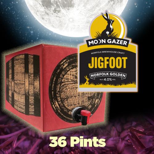 Moon Gazer Jigfoot Golden Ale 36 Pint Polypin