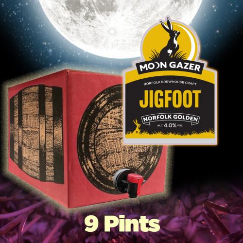 Moon Gazer Jigfoot Golden Ale 9 Pint Polypin