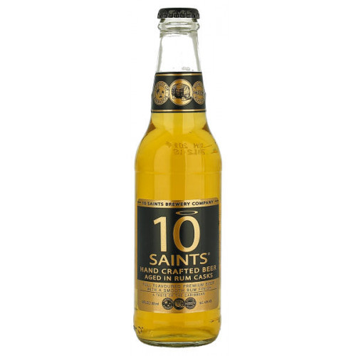 10 Saints Hand Crafted beer Aged in Rum Casks