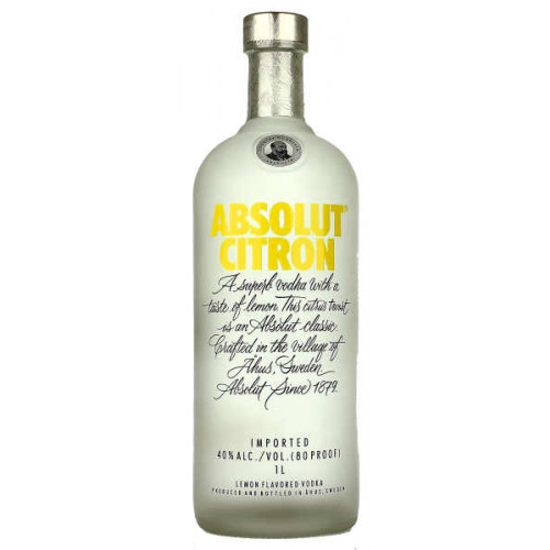 Absolut Citron Vodka 1 Litre