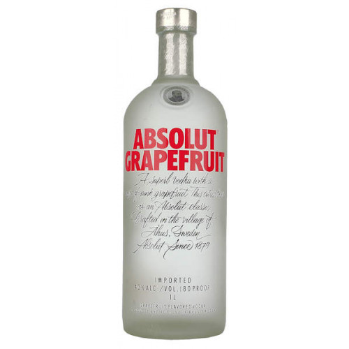Absolut Grapefruit Vodka 1 Litre