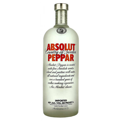 Absolut Peppar Vodka 1 Litre