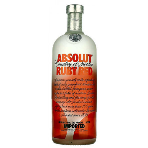 Absolut Ruby Red Vodka 1 Litre