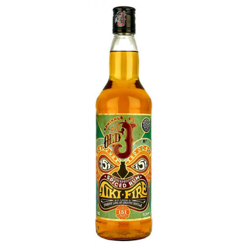 Admirals Old J Tiki Fire Spiced Rum