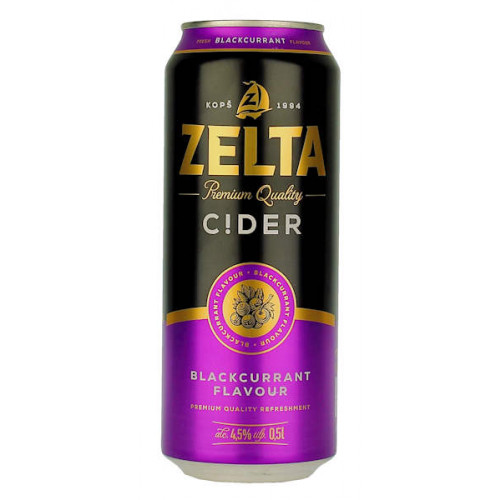 Aldaris Zelta Blackcurrant Cider Can