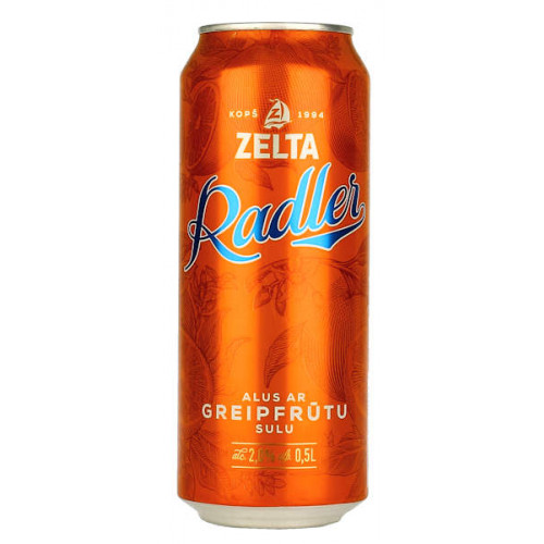 Aldaris Zelta Radler Grapefruit Can
