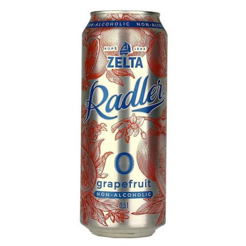 Aldaris Zelta Radler Grapefruit Non-Alcoholic Can