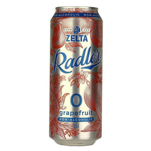 Aldaris Zelta Radler Grapefruit Non-Alcoholic Can