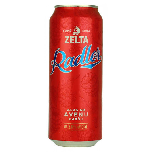 Aldaris Zelta Radler Raspberry Can