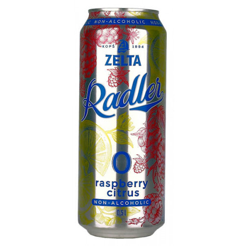Aldaris Zelta Radler Raspberry Lemon Non-Alcoholic Can