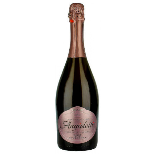 Angioletti Rose with Blueberry Sparkling Italian Craft Cider 750ml