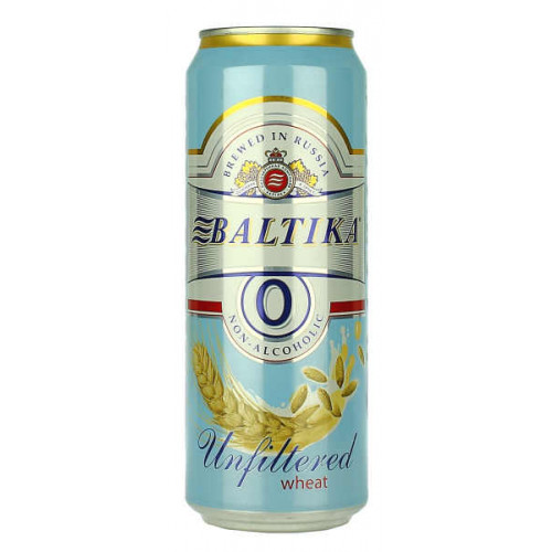 Baltika 0 Non Alcoholic Unfiltered Wheat Can