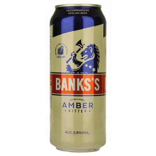 Banks's Amber Bitter Can (B/B Date 31/08/19)