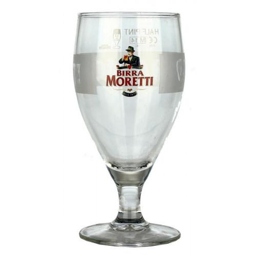 Birra Moretti Goblet Glass (Half Pint)