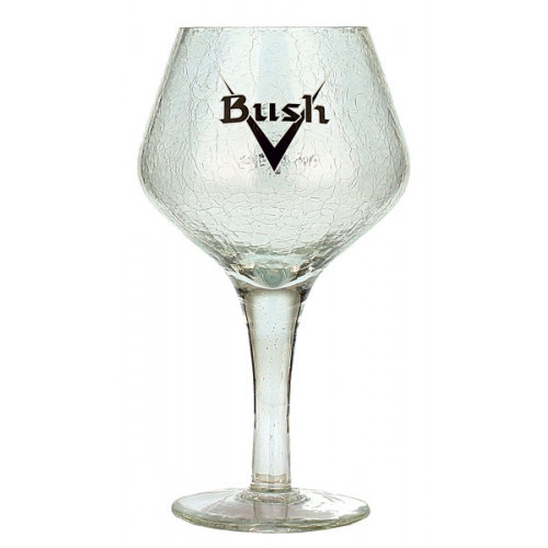 Bush Chalice Crackle Glass 0.33L