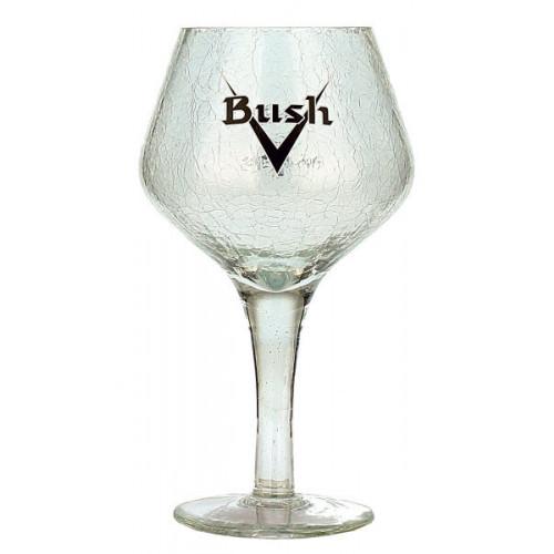 Bush Chalice Crackle Glass 0.33L