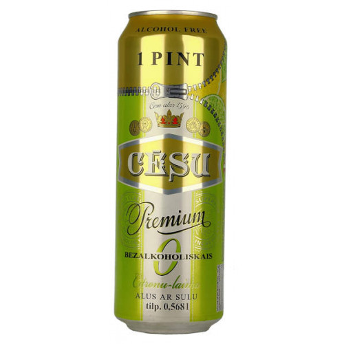 Cesu Premium Alcohol Free With Lemon and Lime Can