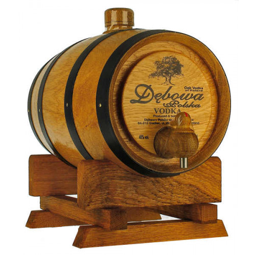 Debowa Vodka 1 Litre Barrel (Black Bands)