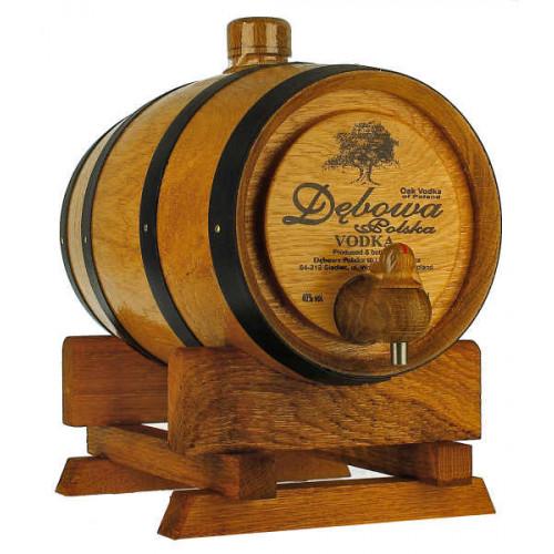 Debowa Vodka 1 Litre Barrel (Black Bands)
