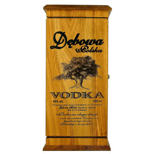 Debowa Vodka In Wooden Box