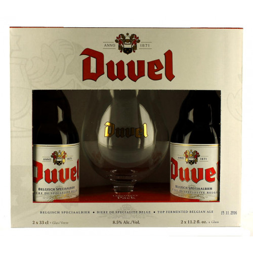 Duvel Gift Pack (2x33cl + 1 Glass)