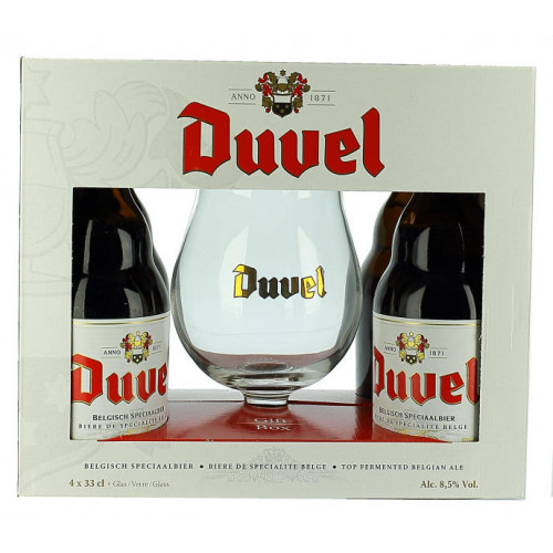 Duvel Gift Pack (4x33cl + 1 Glass)