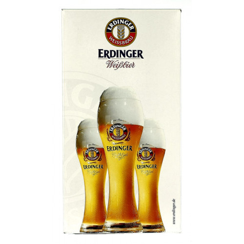 Erdinger Weiss Bier Gift Pack (2x50cl + 2 Glass)