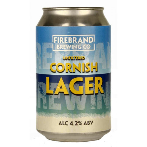 Firebrand Unfiltered Cornish Lager Can
