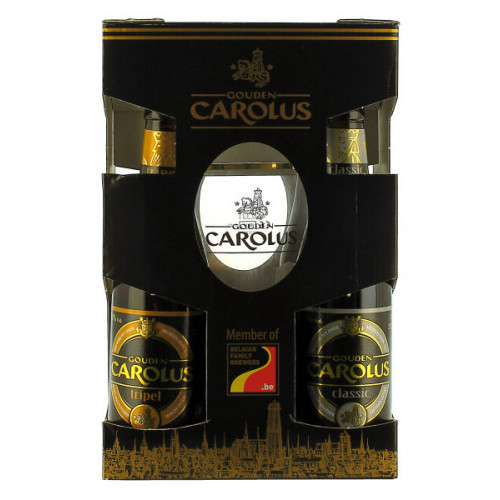 Gouden Carolus Gift Pack (4x33cl + Glass)