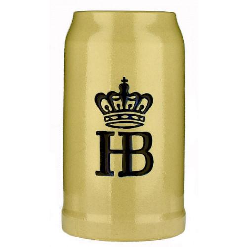 HB (Hofbrau) Pottery Stein 1L