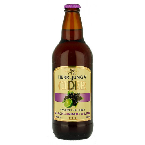 Herrljunga Blackcurrant and Lime Cider 500ml