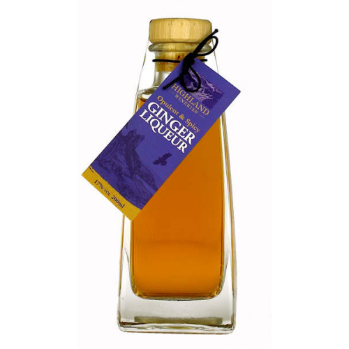Highland Wineries Square Collectors Ginger Liqueur (Whisky and Ginger) 200ml