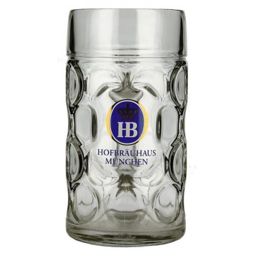 HB (Hofbrau) Stein (Dimple Sided) 1L