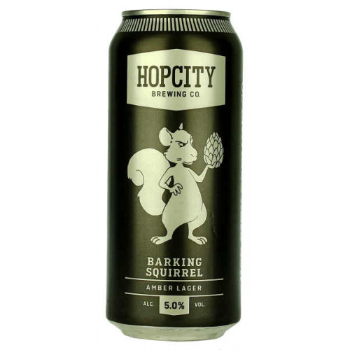 Hop City Barking Squirrel Amber Lager Can