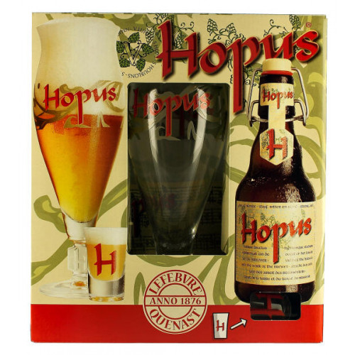 Hopus Gift Pack (2x33cl + 1 Glass)