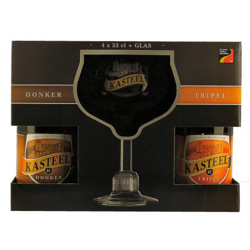 Kasteel Gift Pack (4x33cl + 1 Glass)