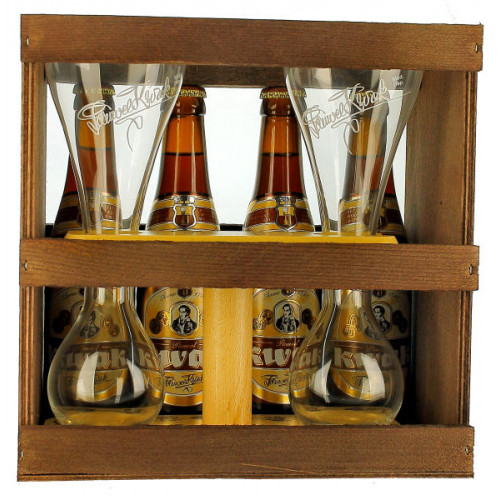 Kwak Gift Pack (4x33cl + 2 Kwak Glasses on Double Stand)