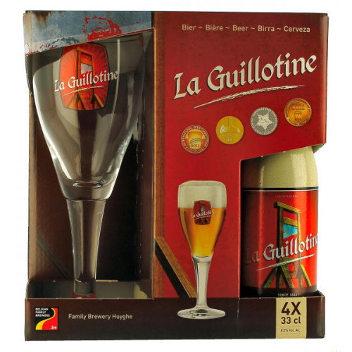La Guillotine Gift Pack (4x33cl + 1 Glass)