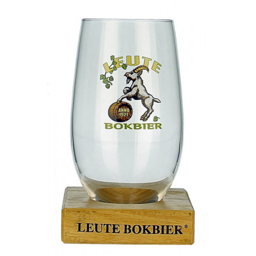 Leute Bokbier Glass With Stand