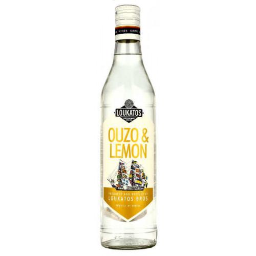 Loukatos Ouzo and Lemon