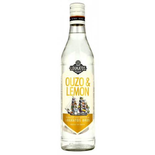 Loukatos Ouzo and Lemon