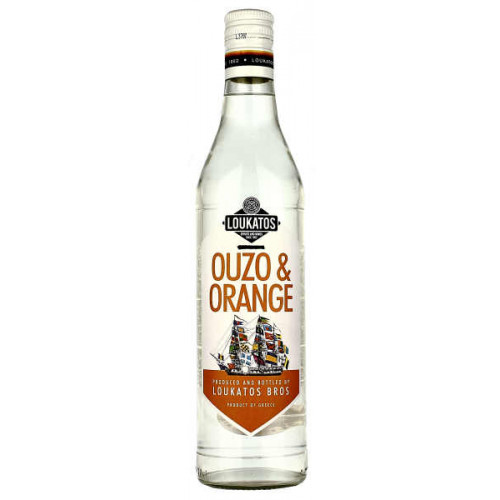 Loukatos Ouzo and Orange