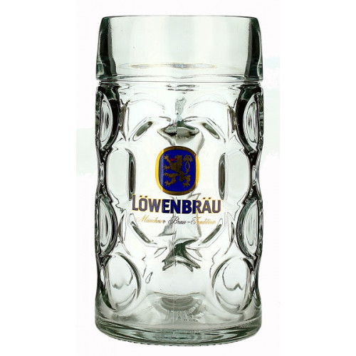 Lowenbrau Stein (Dimple Sided) 1L