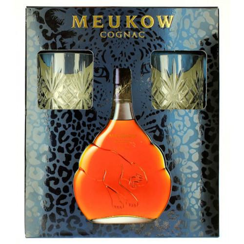 Meukow V.S.O.P Superior Cognac 700ml Gift Pack