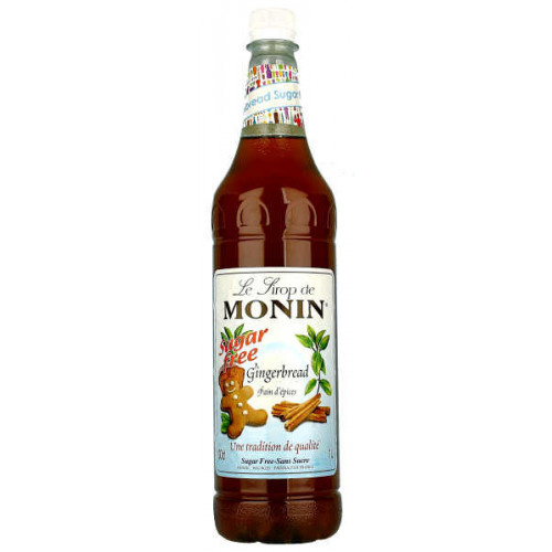 Monin Gingerbread Sugar Free 1 Litre
