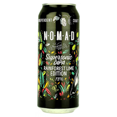Nomad Supersonic DIPA Rainforest Lime Edition Can (B/B Date End 09/19)